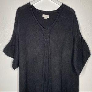 AVENUE Black Short Sleeve Sweater Size 22/24